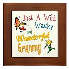 Wild Wacky Grammy Framed Tile