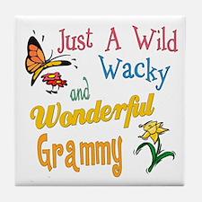 Wild Wacky Grammy Tile Coaster