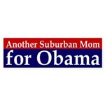 Suburban Mom for Obama car sticker