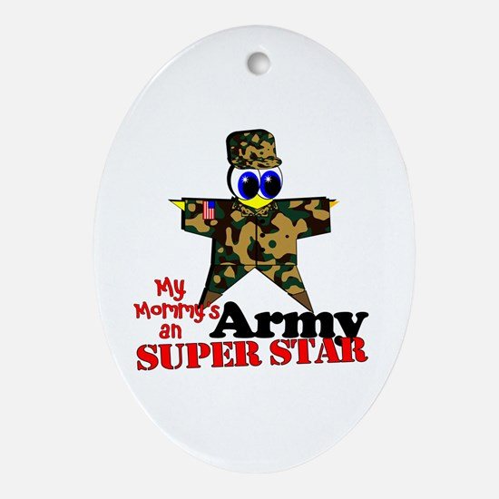 Mommy Army Oval Ornament