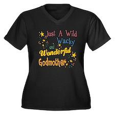 Wild Wacky Godmother Women's Plus Size V-Neck Dark