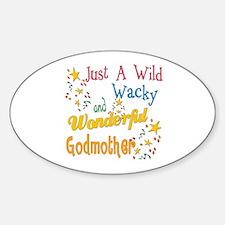 Wild Wacky Godmother Oval Decal