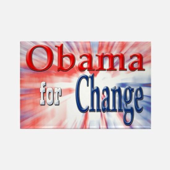 Obama for Change Rectangle Magnet