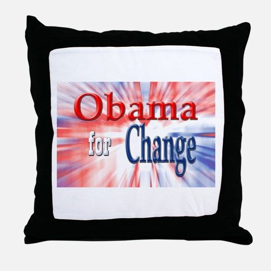 Obama for Change Throw Pillow