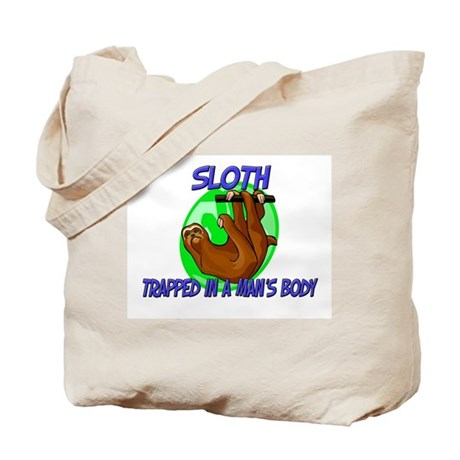 Sloth Trapped In A Man's Body Tote Bag