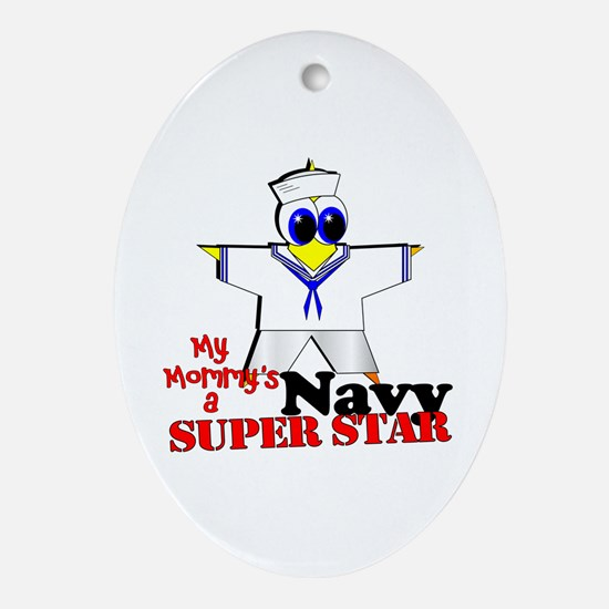 Mommy Navy Oval Ornament