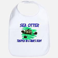 Sea Otter Trapped In A Man's Body Bib
