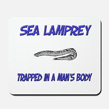 Sea Lamprey Trapped In A Man's Body Mousepad