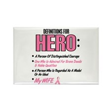 Definition Of Hero 2 Pink (Wife) Rectangle Magnet