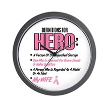 Definition Of Hero 2 Pink (Wife) Wall Clock