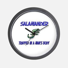 Salamander Trapped In A Man's Body Wall Clock