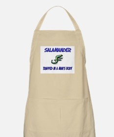 Salamander Trapped In A Man's Body BBQ Apron