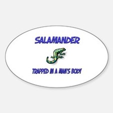 Salamander Trapped In A Man's Body Oval Decal