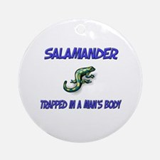 Salamander Trapped In A Man's Body Ornament (Round