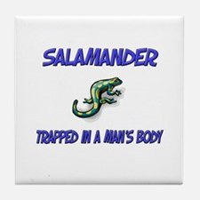 Salamander Trapped In A Man's Body Tile Coaster
