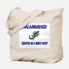 Salamander Trapped In A Man's Body Tote Bag