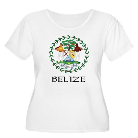 Belize Coat of Arms Women's Plus Size Scoop Neck T