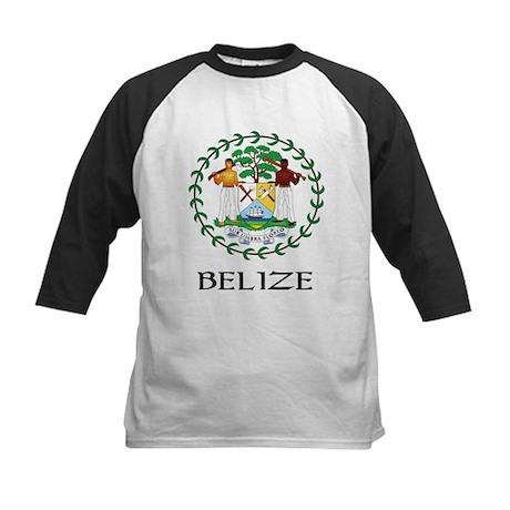Belize Coat of Arms Kids Baseball Jersey