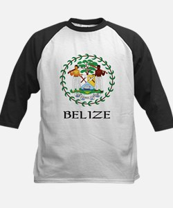 Belize Coat of Arms Kids Baseball Jersey