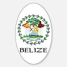 Belize Coat of Arms Oval Decal
