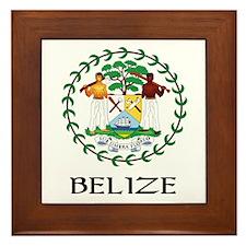 Belize Coat of Arms Framed Tile