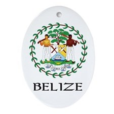 Belize Coat of Arms Oval Ornament