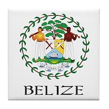 Belize Coat of Arms Tile Coaster
