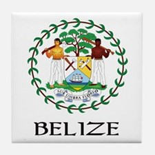Belize Coat of Arms Tile Coaster