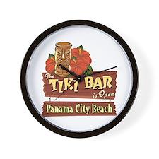 Panama City Beach Tiki Bar - Wall Clock