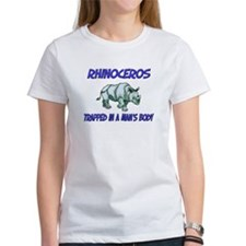 Rhinoceros Trapped In A Man's Body Tee