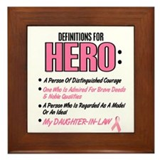 Definition Of Hero 2 Pink (Daughter-In-Law) Framed