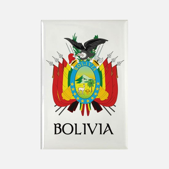 Bolivia Coat of Arms Rectangle Magnet