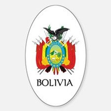 Bolivia Coat of Arms Oval Decal
