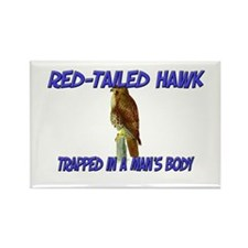 Red-Tailed Hawk Trapped In A Man's Body Rectangle