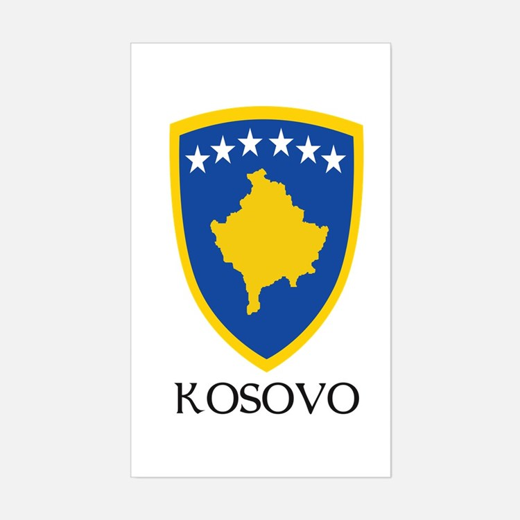 Kosovo Coat of Arms Rectangle Decal