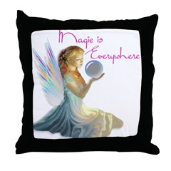 Magic Fairy Girl Throw Pillow