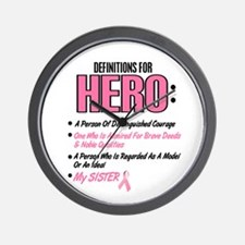 Definition Of Hero 2 Pink (Sister) Wall Clock