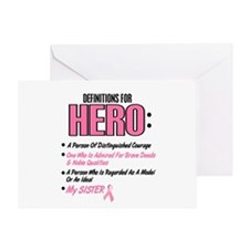Definition Of Hero 2 Pink (Sister) Greeting Card