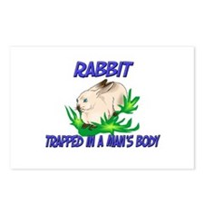 Rabbit Trapped In A Man's Body Postcards (Package
