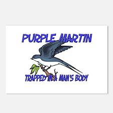 Purple Martin Trapped In A Man's Body Postcards (P