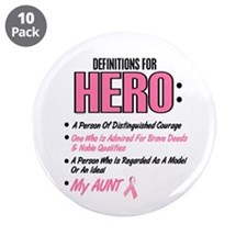 "Definition Of Hero 2 Pink (Aunt) 3.5"" Button (10 p"