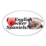 Harry English Cocker Spaniel Oval Sticker