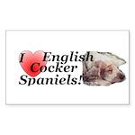 Harry English Cocker Spaniel Sticker (Rect.)