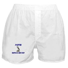 Puffin Trapped In A Man's Body Boxer Shorts