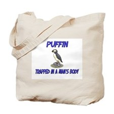 Puffin Trapped In A Man's Body Tote Bag