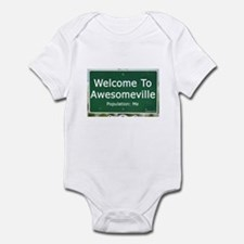 Welcome To Awesomeville Popul Infant Bodysuit
