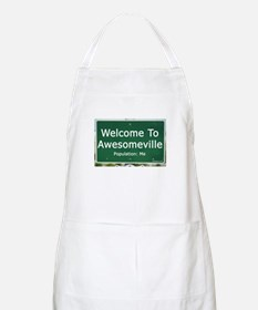 Welcome To Awesomeville Popul BBQ Apron