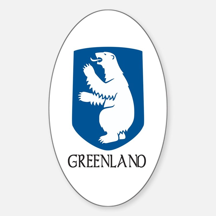 Greenland Coat of Arms Oval Decal