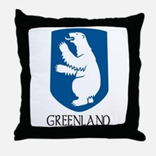Greenland Coat of Arms Throw Pillow