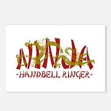 Dragon Ninja Handbell Ringer Postcards (Package of